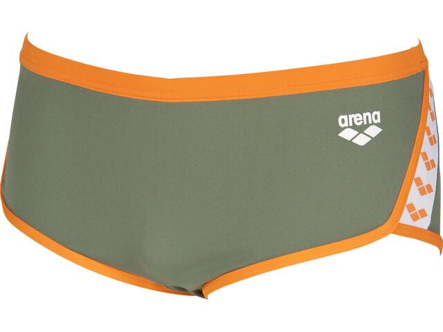 arena Team Stripe Pantalones cortos de cintura baja Hombre, army-tangerine